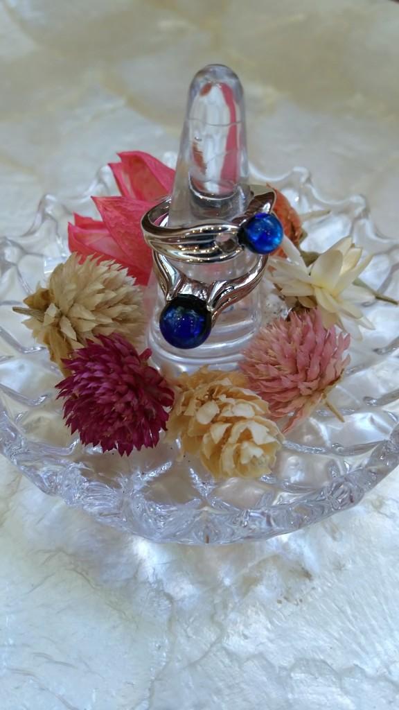 ホタルガラス指輪