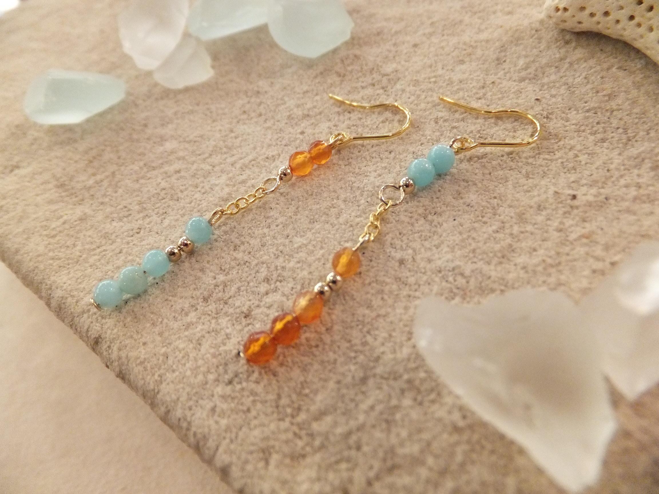 水色&オレンジ