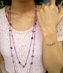 天然石ブレス ネックレス