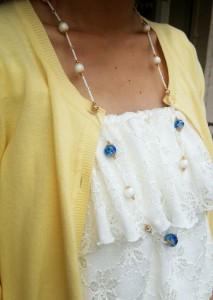 白ホタル ネックレス