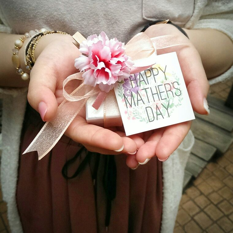 母の日 ラッピングBOX メッセージカード カーネーション