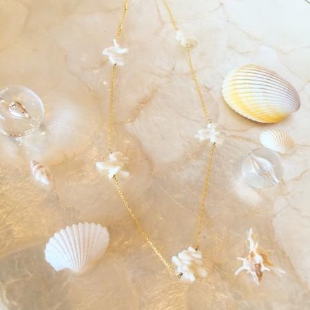 ハンドメイドアクセサリー ハンドメイドネックレス ハンドメイド アクセサリー サンゴ サンゴネックレス サンゴサザレ コーラル coral ネックレス
