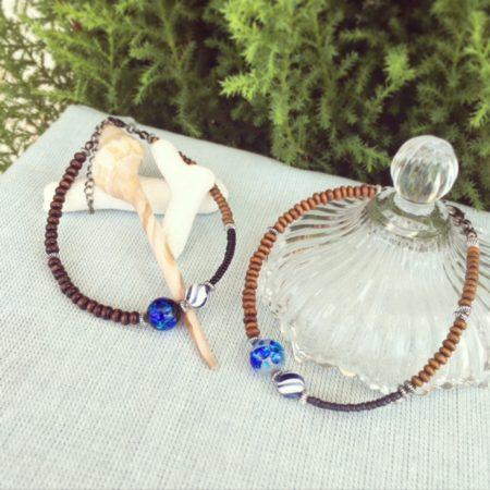 ホタルガラス ホワイトホタルガラス アンクレット ハンドメイド アクセサリー ハンドメイドアクセサリー ククルロコ 沖縄