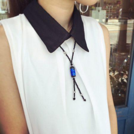 ホタルガラス ホタルガラスネックレス ネックレス ハンドメイド ハンドメイドアクセサリー ククルロコ 沖縄 国際通り