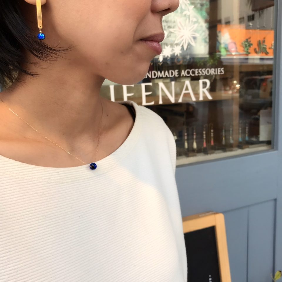 JEENAR ハンドメイドショップ ハンドメイドアクセサリー ホタルガラス ホタルガラスアクセサリー ホタルガラスペンダント ギフト 国際通り 沖縄