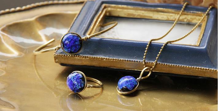 JEENAR ホタルガラス リング 沖縄 ハンドメイド アクセサリー 真鍮 d-y-w-f 七夕 星 プラネタリウム
