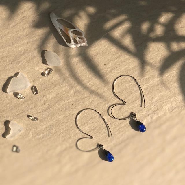 ホタルガラス ホタルガラスピアス ホタルガラスアクセサリー ハート ハートピアス 可愛い 大人可愛い