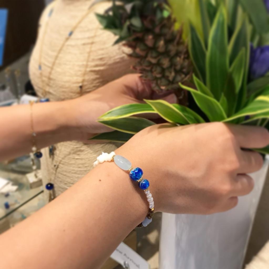 ブレスレット 夏ブレスレット サンゴ パール 重ね付け